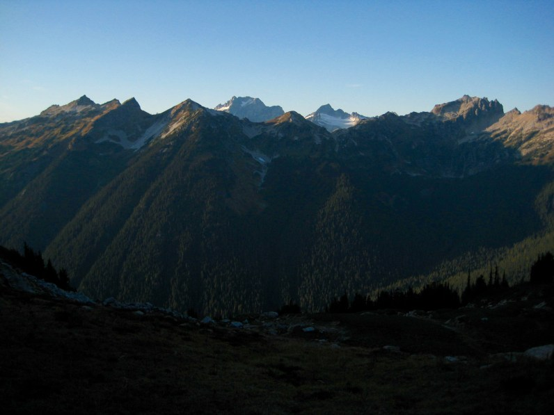 Dome Peak and Sinister Peak From Miners Pass