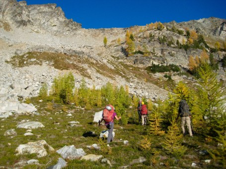 Hiking Up To Ice Lakes Pass