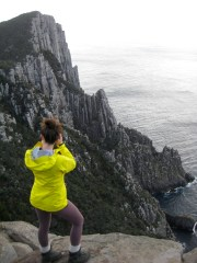 Brooke Photographing End Of Cape Pillar From The Blade