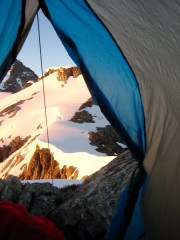Perfect Pass Sunrise From Tent