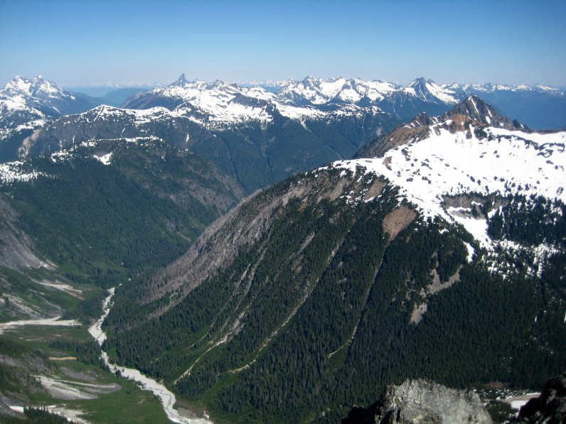Canadian Chilliwacks From Summit Of Whatcom Peak