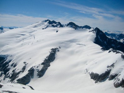 Mt Challenger From Summit Of Whatcom Peak