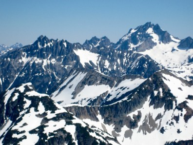 Bear Mountain and Mt Redoubt From Summit Of Whatcom Peak