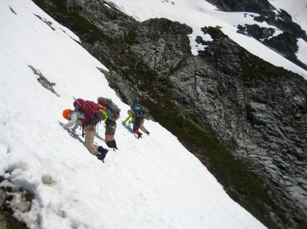 Snow Descent From Pickell Pass