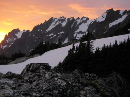 Sunset Over Mt Fury From Picket Pass