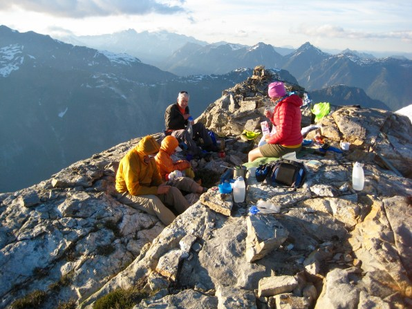 Group Dinner On Summit Of Rhino Butte