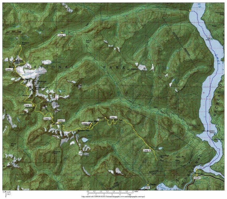 Overview Map Of Picket Traverse