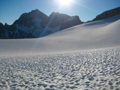 Traversing Redoubt Glacier On Day 3