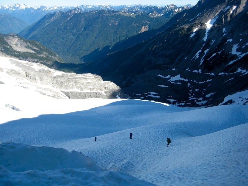 High On Redoubt Glacier