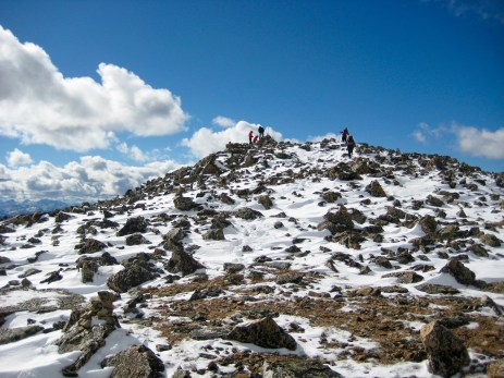 Reaching Summit Of Lakeview Mtn