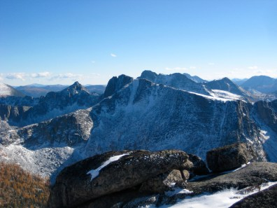 The Deacon & Cathedral Peak From Ovis Mtn