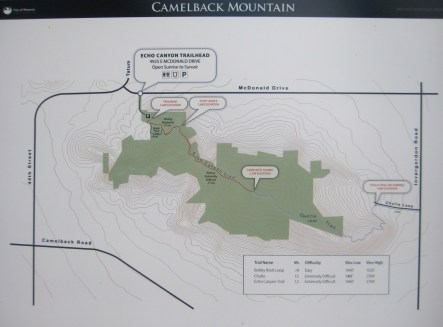 Camelback Mtn Area Map