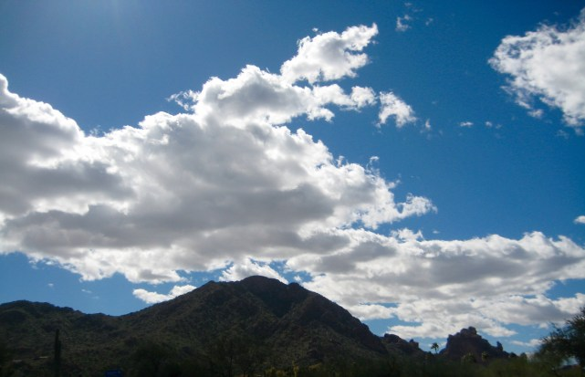 Clouds Over Camelback Mtn