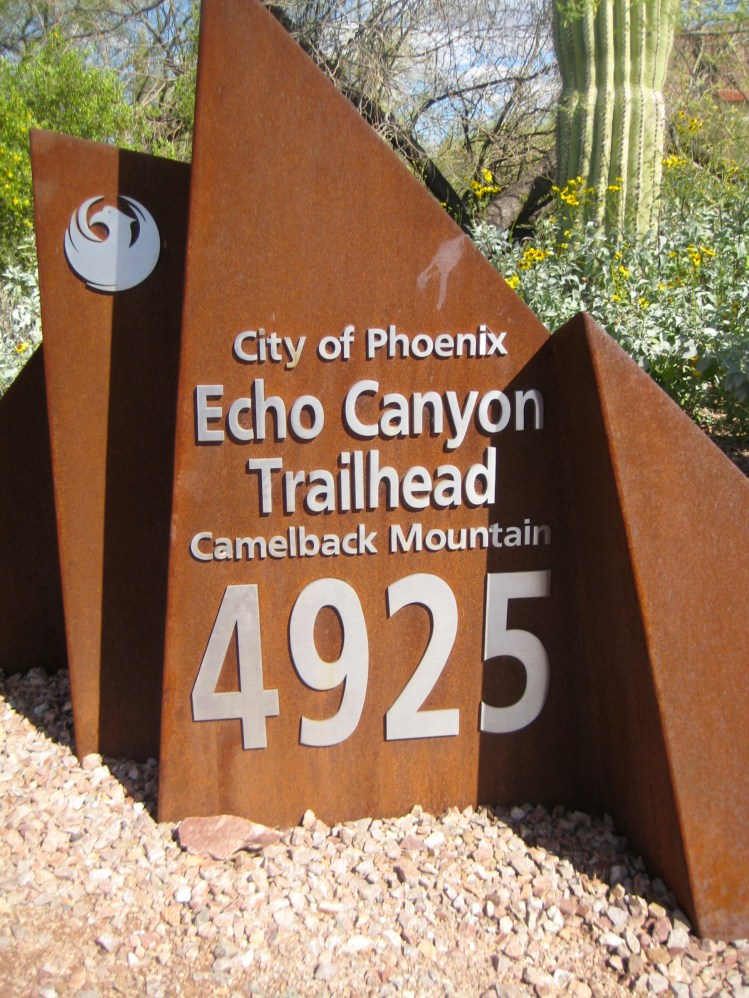 Echo Canyon Trailhead Sign