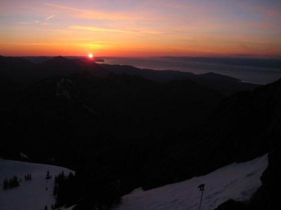 Sunset From Mt Angeles Camp
