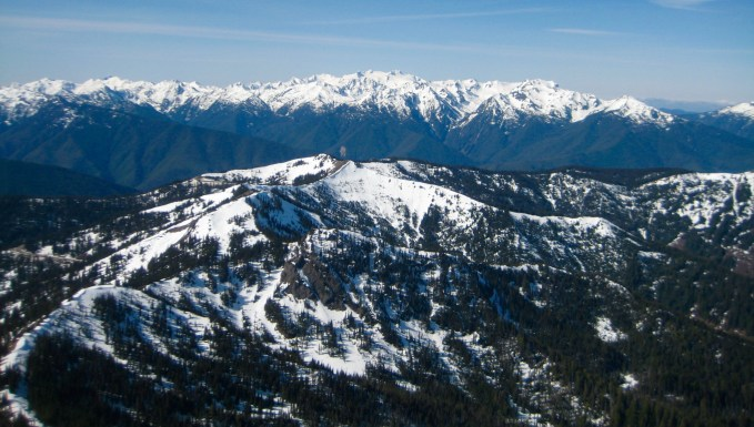 View Southwest From Mt Angeles Summit