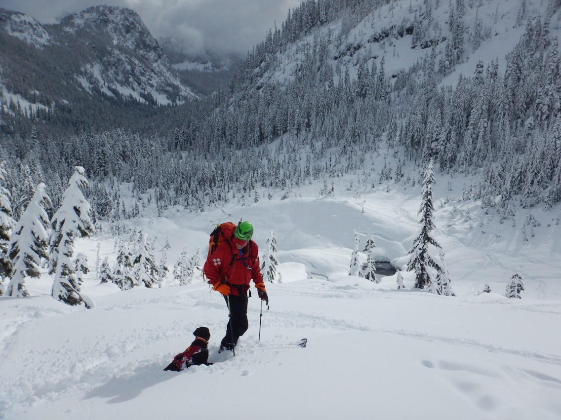 An avalanche dog even came out for some training - amazing!