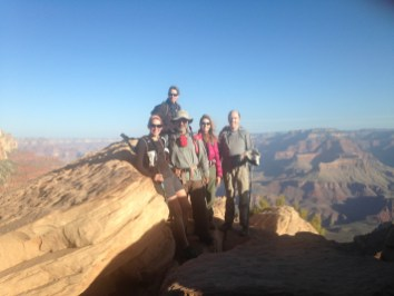 Our whole amazing crew (from L to R): Me, Annette, my Dad, Diana, and Hermann