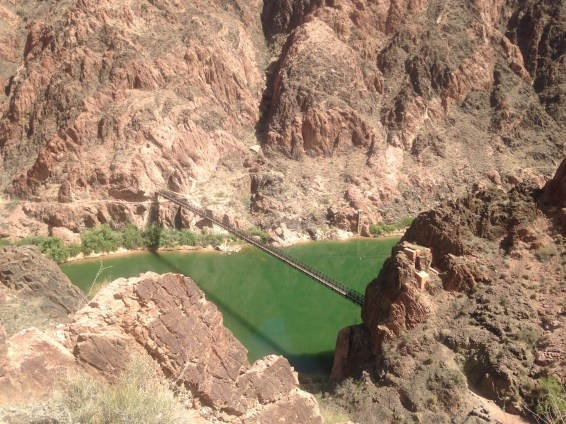 The Black Suspension bridge spanning the inner canyon to Phantom Ranch