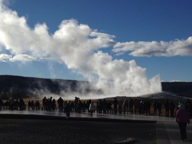 At the end of Old Faithful's show