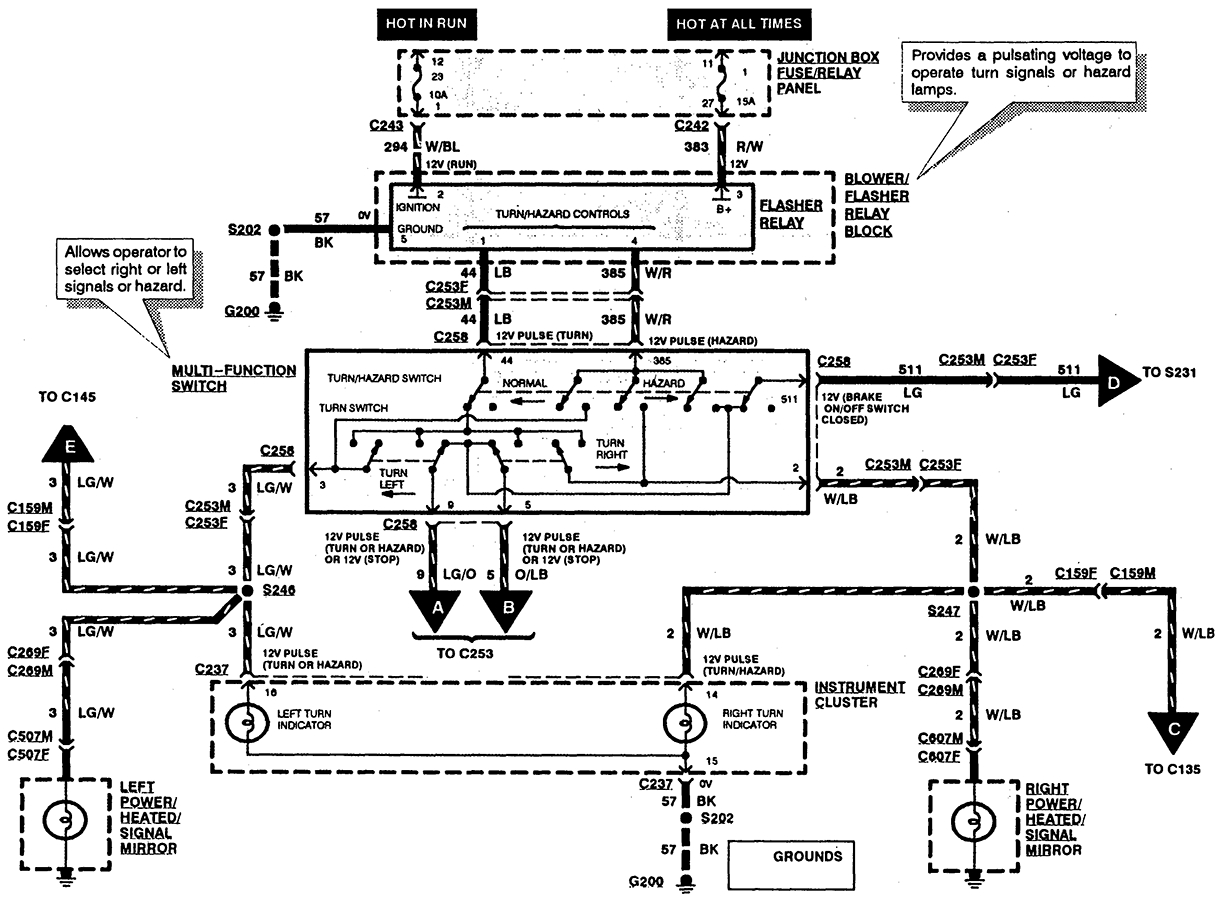 Diagram Ford E 350 Xlt Trailer Wiring Diagram Full