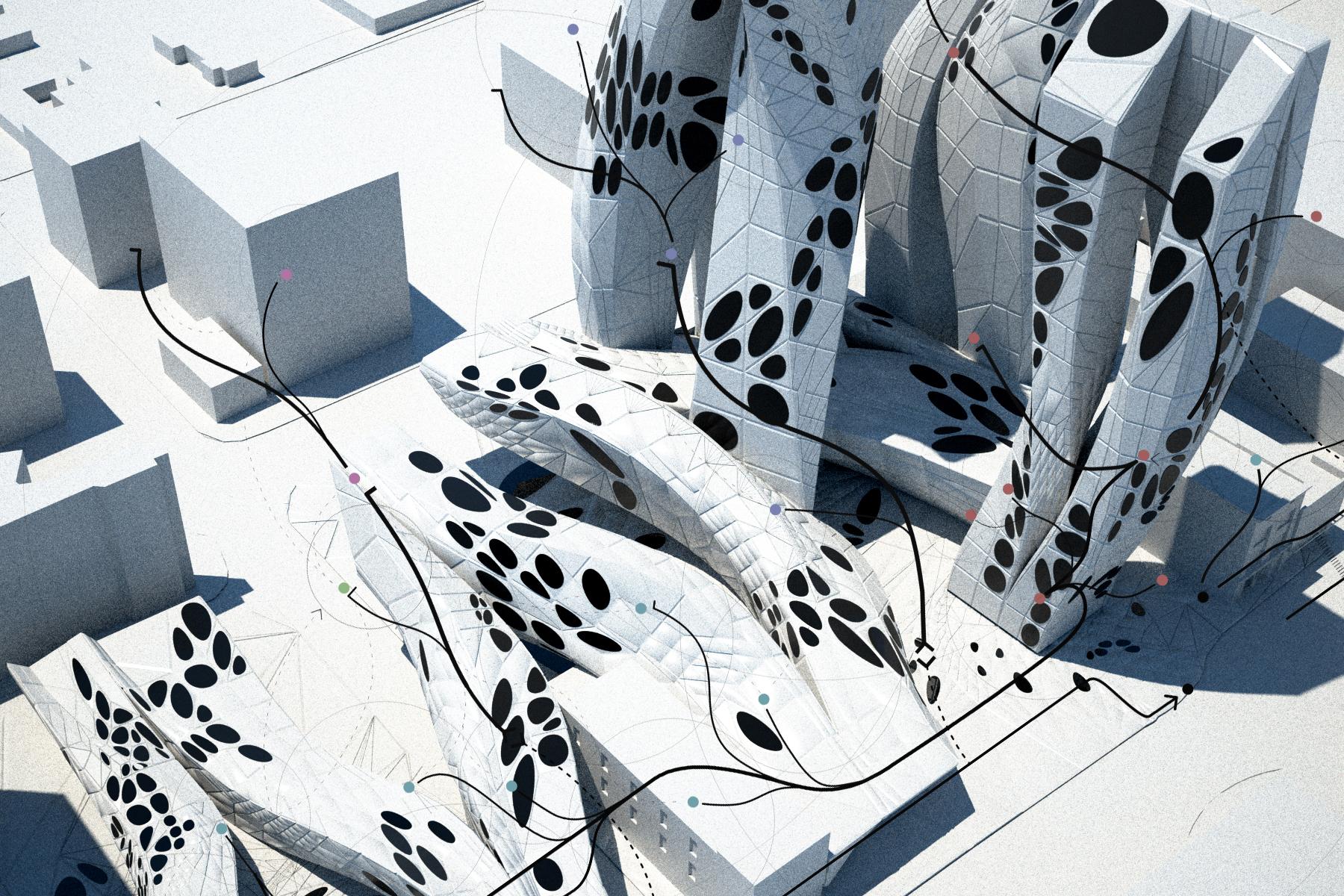 Paul Preissner, CentrePointe, 2008. Rendering. Courtesy of Paul Preissner Architects.