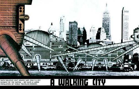 A Walking City, Archigram, 1964.