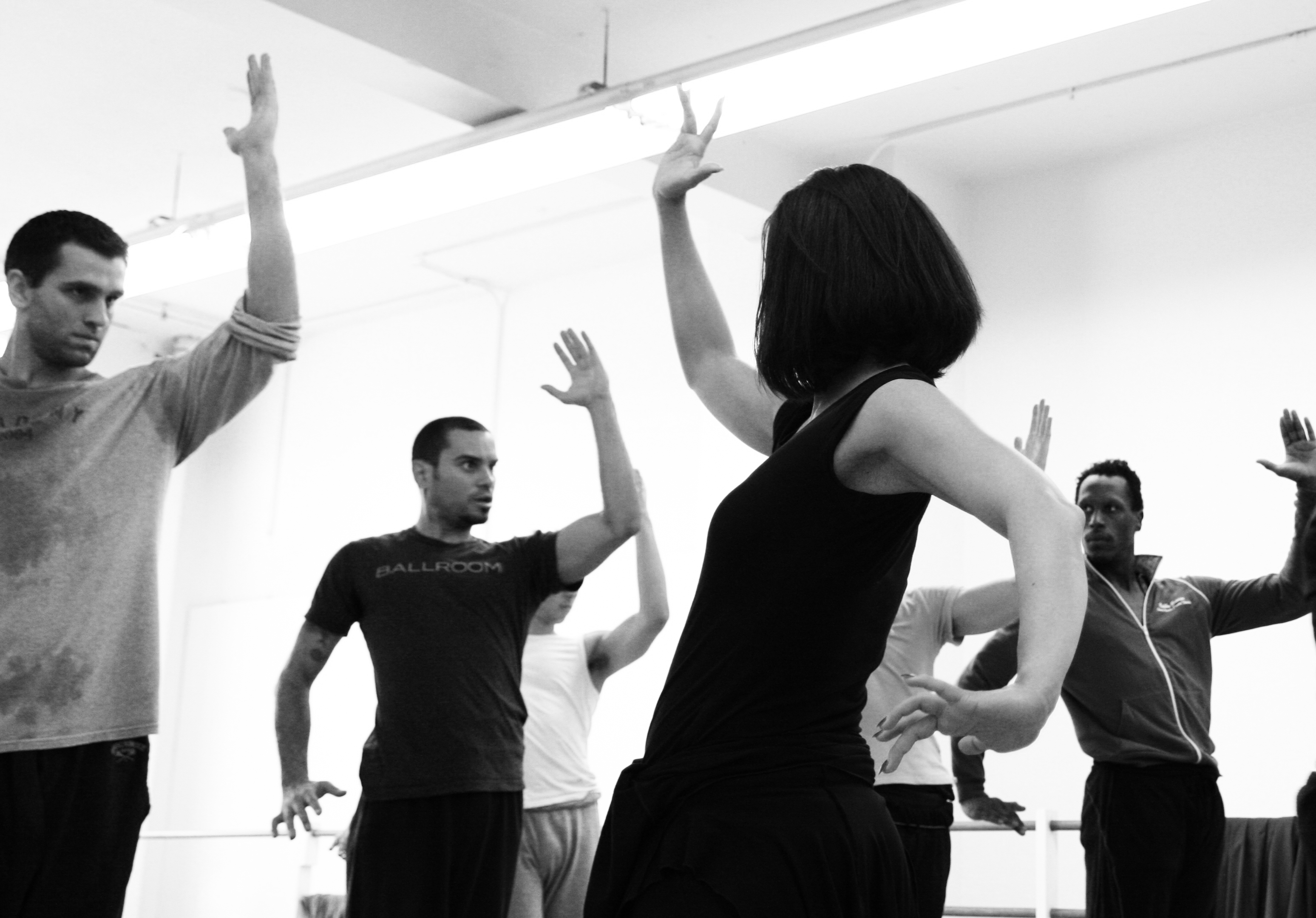 JP Tenuta, Ricardo J. Garcia, Annabelle Lopez Ochoa and Bobby Briscoe rehearsing Nube Blanco.  Photo by Altin Kaftira.
