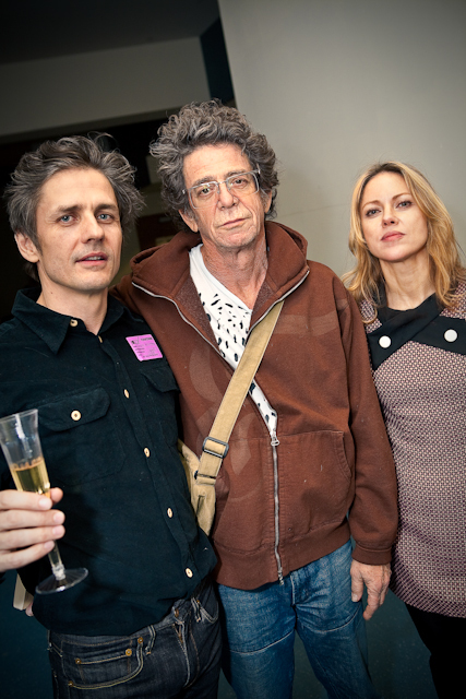 Dean Wareham, Lou Reed and Britta Phillips at Lincoln Center.  Photo by Derek Meade.