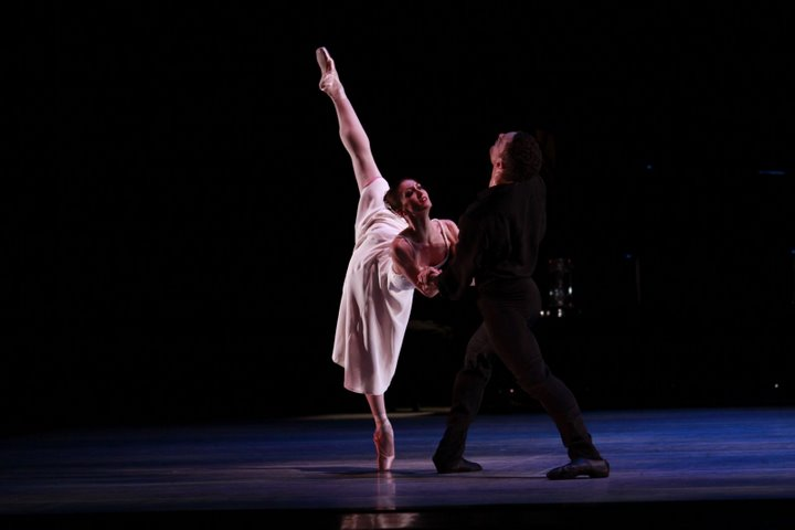 Victoria Jaiani and Fabrice Calmels in Valses Poeticos. Photo by Herbert Midgoll.