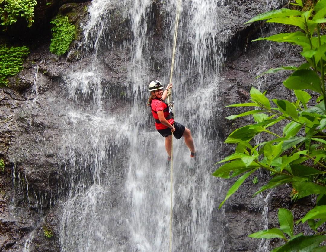 Girl Scout Rock Climbing in Costa Rica