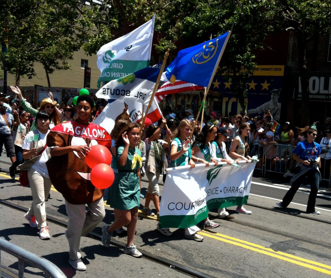 Girl Scouts in Pride Parade