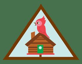 Brownie Cabin Camper Badge