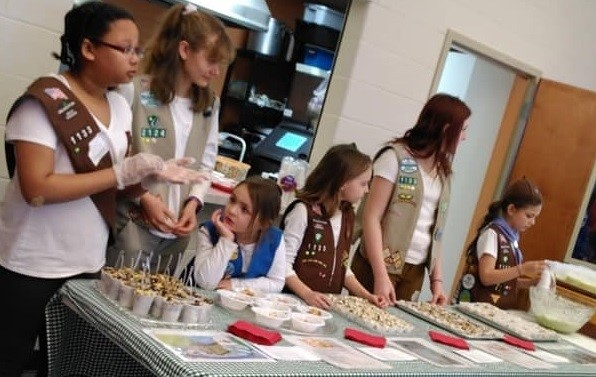 Iron Chefs at Girl Scout Sunday