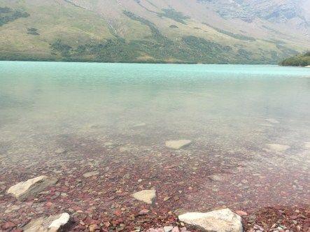 Crystal clear water of Cracker Lake