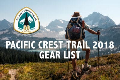 Pacific Crest Trail 2018 Gearlist