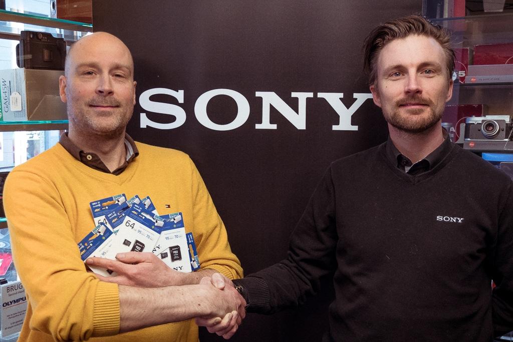 Sony Nordic, Sony Nordic sponsorerer memory cards til turen.
