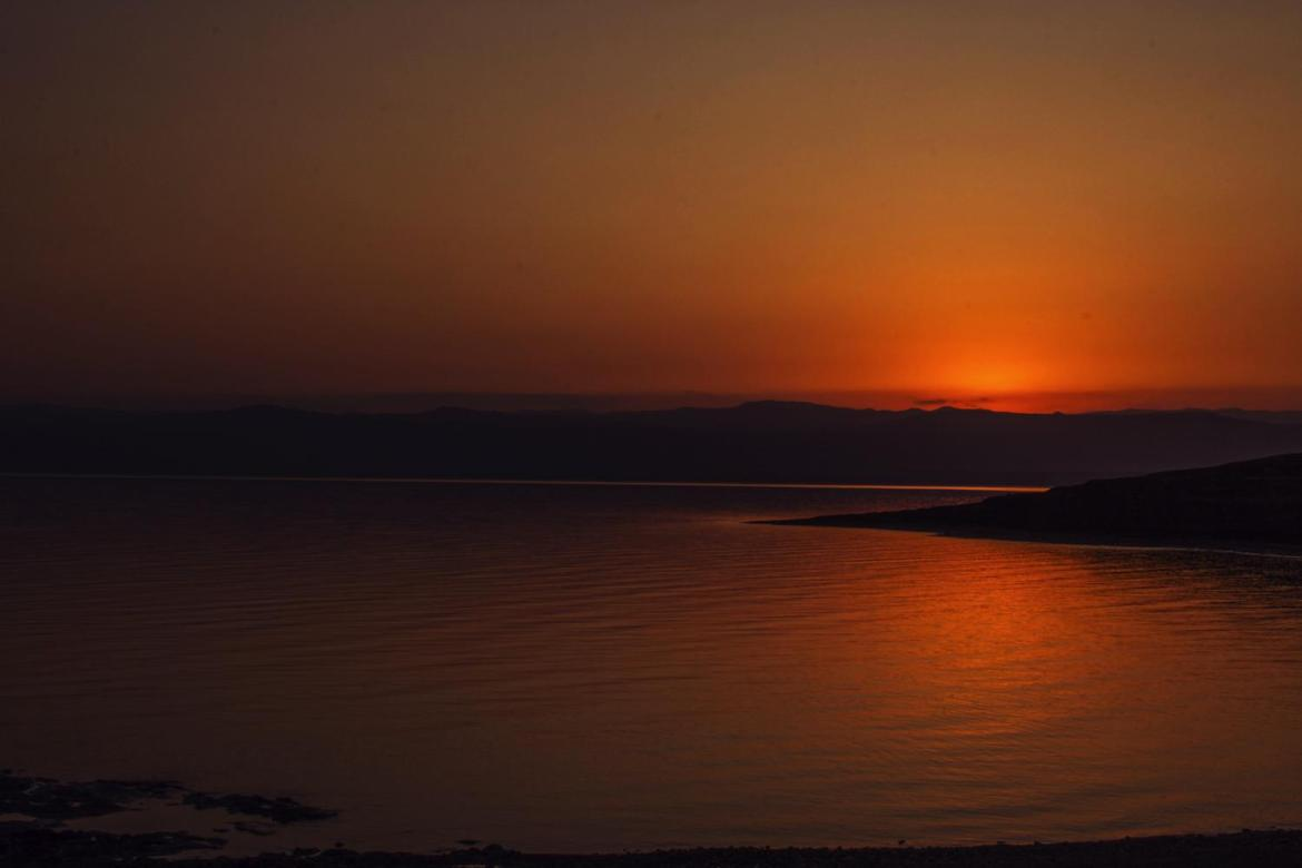 Dead Sea Panorama Sunset