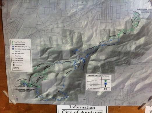 Coldsprings Flow Trails Map