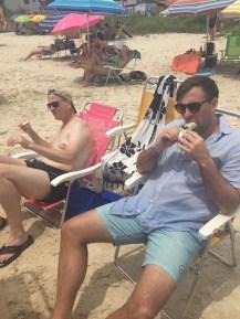 Two gringos... eating ice cream.