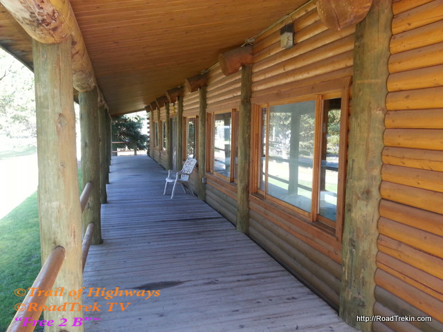 Front Porch of Indoor Pool Cabin