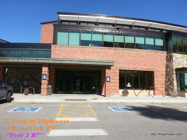 Lower Entrance of the Bud Werner Memorial Library