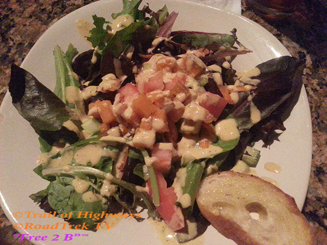 Farm to Table Salad-Ripe Bistro-St Augustine-Florida-Trail of Highways-RoadTrek TV-Organic Content-Marketing-Social SEO-Travel-Media-