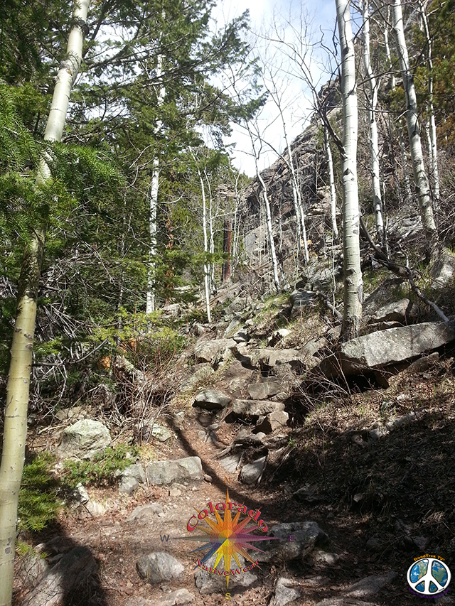 Hiking up to Bridal Veil Falls, Rocky Mountain Park