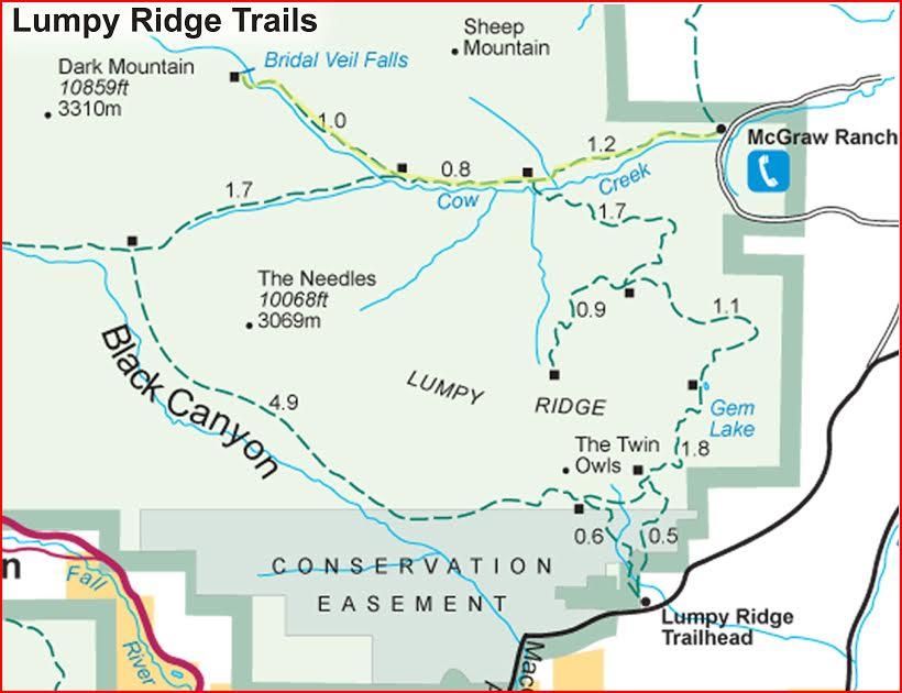 Video Trail to Bridal Veil Falls, Cow Creek Trail, RMNP, Sequence 2 ...