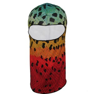 Rainbow Trout sun mask, look good while getting great sun protection,