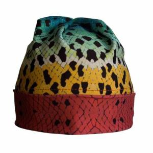 Rainbow #2 Trout Fishing Roll-Up/Slouch Beanie adds comfort to your day on the river nymphing or casting dry flies to rising rainbow trout