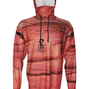 Slick Rock Biking Hoodie the perfect tech apparel for any adventure, a day mountain biking, hiking, camping, backpacking, or a day on the water fishing.