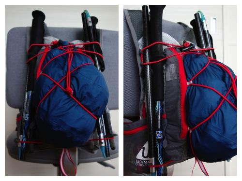 実際にUTMBの装備を収納してみたSJ Ultra Vest。