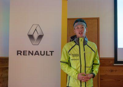 ルノー カジャーのアンバサダーとなった上田瑠偉さん。実は今年に入ってからフランス語の勉強をはじめた。